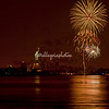 New Year's Eve fireworks over the Statue of Liberty