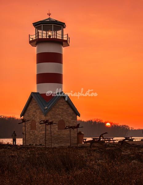 Grafton Lighthouse at sunset