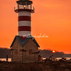 Grafton Lighthouse at sunset