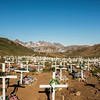 The cemetery in Valley of the Flowers, Tasiilaq, Greenland