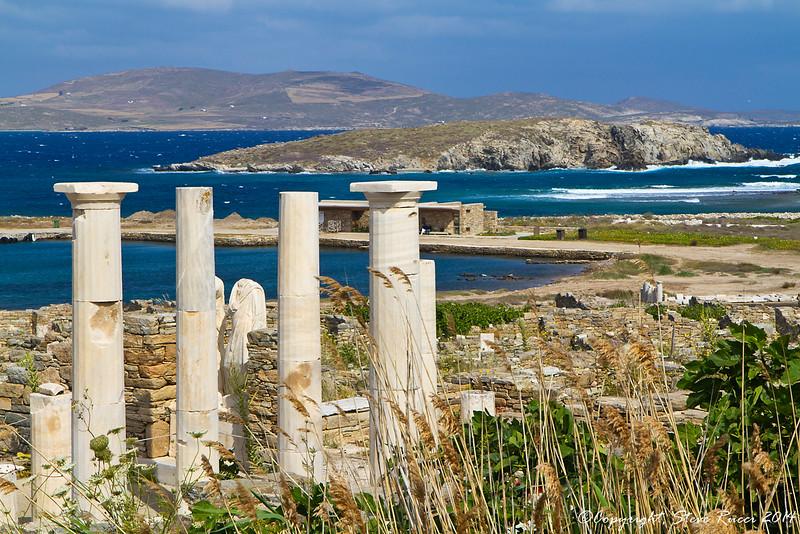 The ruins of ancient Delos, Greece