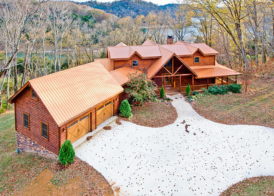 Log home at Center Hill Lake. Shot from about 40 feet above the street.