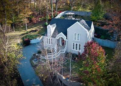 This home was a great candidate for an elevated photo as it is situated about 30 feet above street level and is partially hidden from street view by the trees. This home is listed by Bill Bainbridge at Keller-Williams if you are interested.