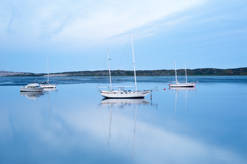Boats Moored on Morro Bay