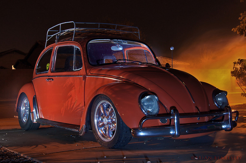 Clyde and a foggy evening<br /> <br /> Was giving the car a bath for a show tomorrow and saw the fog machine sitting in the garage. One thing led to another and here's the result.<br /> <br /> Taken 2010.02.13, at Home