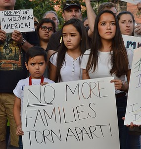 Families being split up was a concern for many who attended a Boulder, Co rally to support DACA (Deferred Action On Childhood Arrivals).