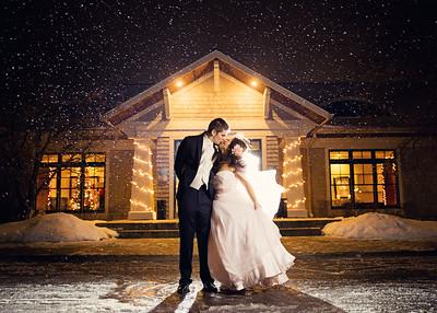 Alex Chea & Betsy Noordeloos winter wedding in Grand Rapids Michigan.