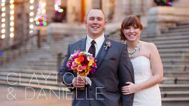 Clayton & Danielle's elopement was photographed by Courtney Clarke. This intimate wedding consisted of just the two of them, without a reception following their romantic ceremony.