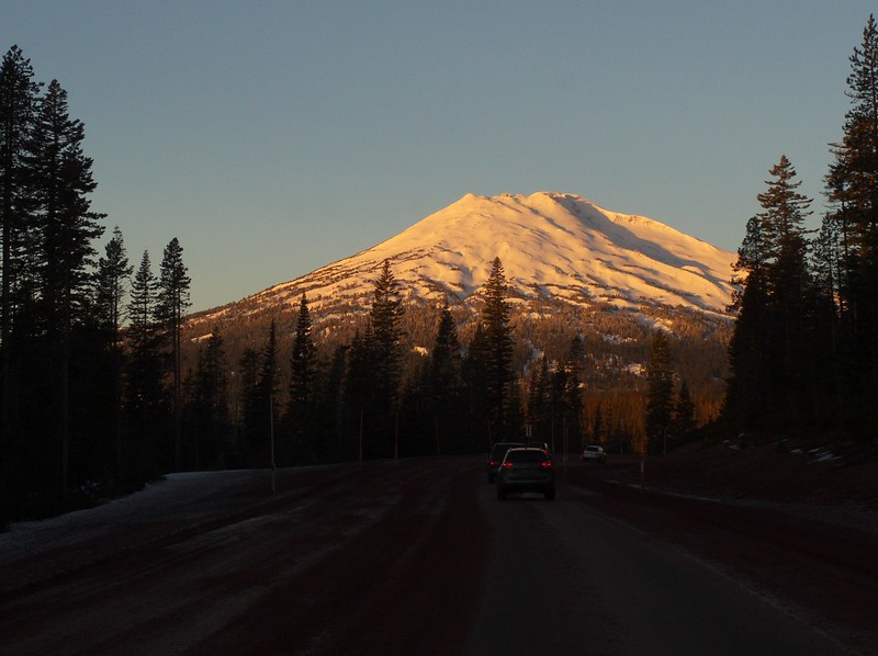 Sunrise on Mt. Bachelor, December 30.