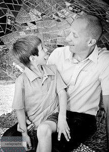 Dad and Owen Fun bw-