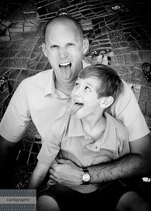 Dad and Owen Crazy Boys bw-4093