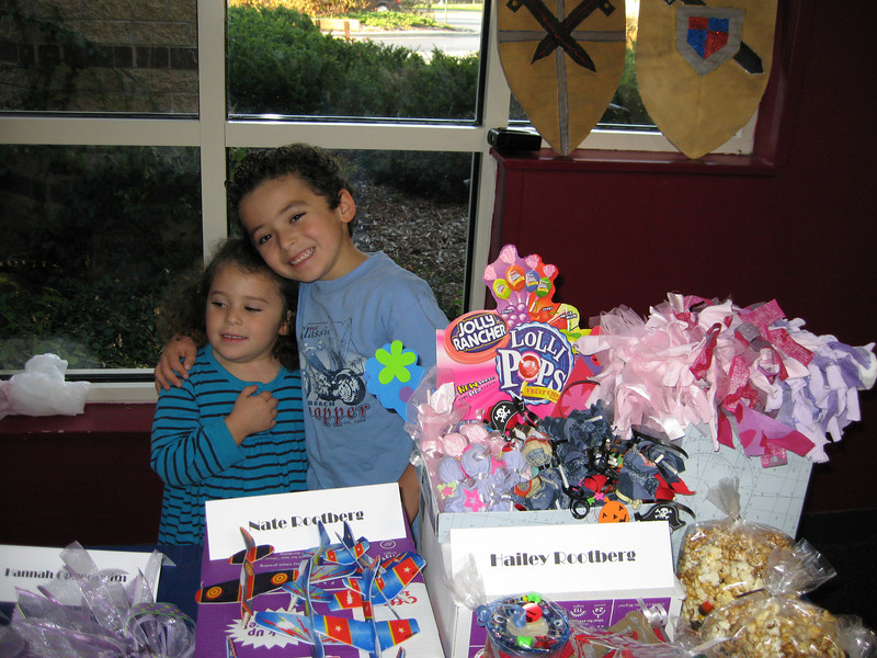 Hailey & Nate selling the stuff they made