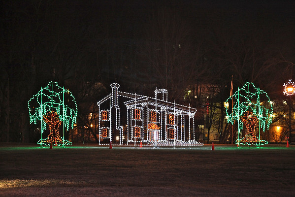 Christmas Lights in Patriot Park, Pigeon Forge, TN