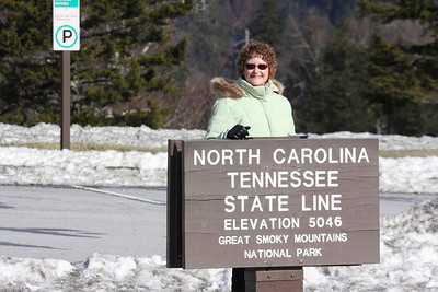 12-24-10- At the top of the mountain at the Tennessee / North Carolina border.   We were not able to access this road following the Christmas Eve snow.