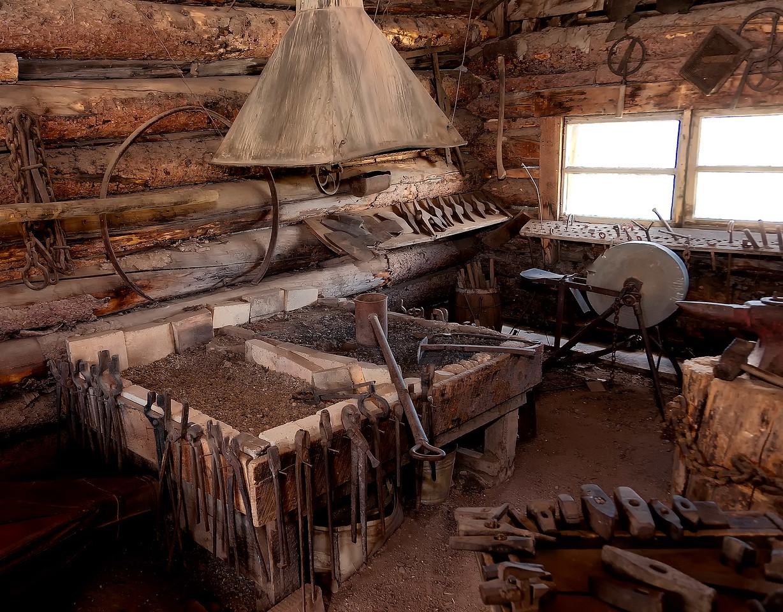 Mining town blacksmith's shop