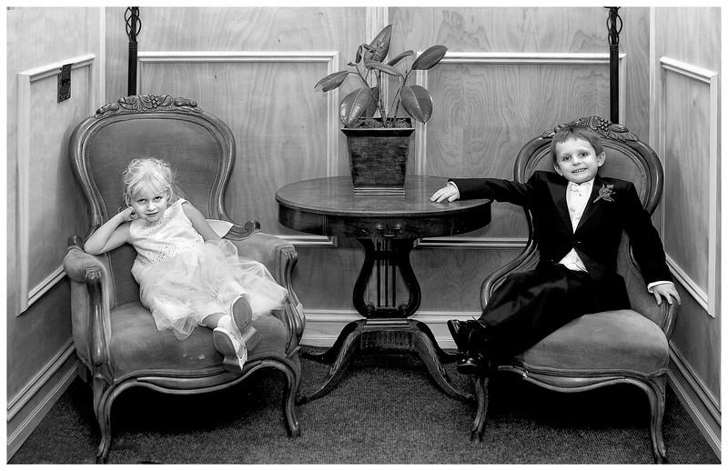 Wedding: B&W Portrait