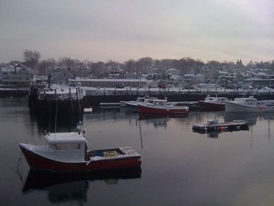 Rockport Harbor after Snowstorm