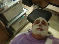 Me getting a facial treatment
