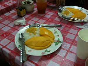 Dessert: Mango with sticky rice