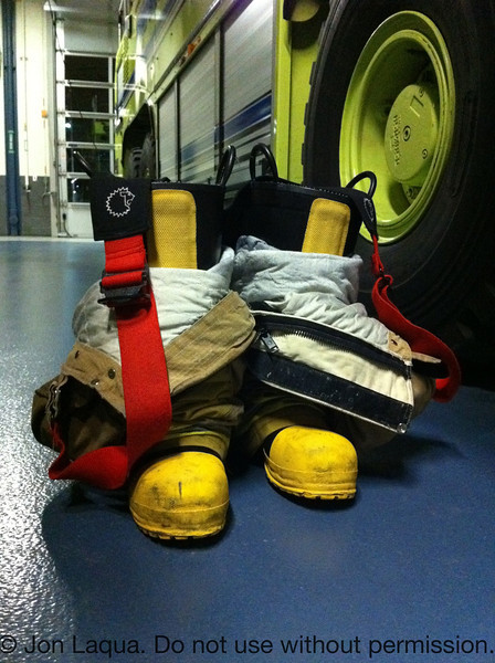 Touring MSP Airport Fire Station #1; this gear belongs to our tour guide. Ready to go.