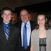 My son Cameron and my daughter Kelsey at my retirement party; January 2010.