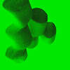 Tasty green marshmallows