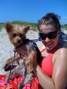 Carmen and Rachael at the beach