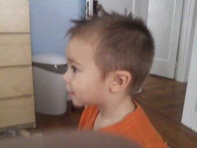 new hair cut (while mom was away!)