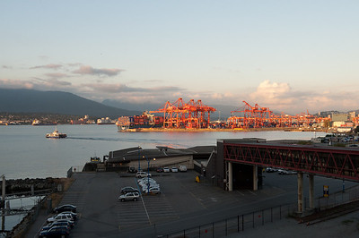 Cargo unloading dock, Vancouver