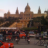 Some kind of rally event near Placa de Marqués de Foronda