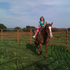 Taken on my iPhone...my cousin's daughter riding a horse.