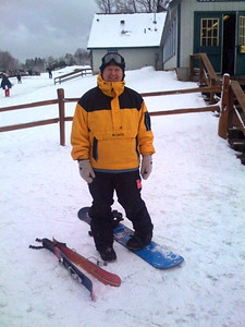 Alex and his snowboard