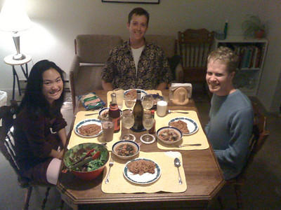 Super-delicious meal prepared by Lauren and Will