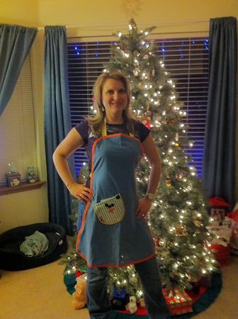 Apron that was purchased to help my Aunt Maria in  raising funds for all the costs associated with her cancer treatments, prescriptions and nutrition regimen.