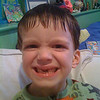 Hayden lost his second top tooth today.