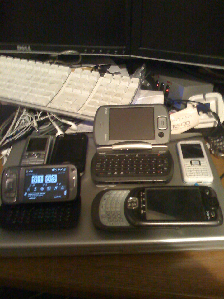Some, but not all, of my phones...