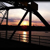 Stillwater lift bridge, sunset