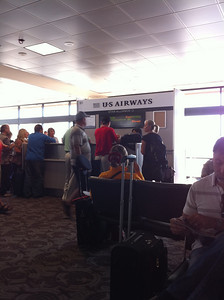 Phoenix to Vancouver boarding gate