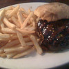 Yummy poetabello burger from th Beacwr st Brewery!