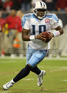 November 23, 2009 - The Houston Texans hosted the Tennessee Titans on Monday Night Football.  The Texans lost to the Titans, as Vince Young made his return to Houston, 20-17.