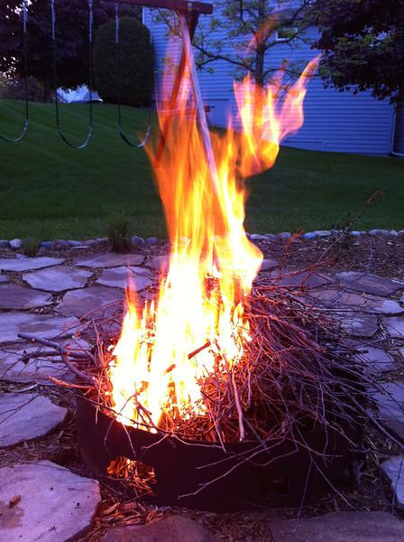 First backyard fire of the summer.