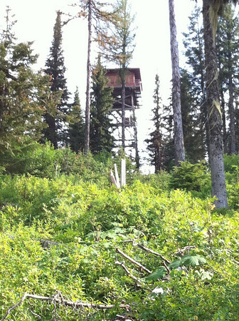 This is a picture of the Tower on Spades Mt. The one that we are always taking pictures of Lake Coeur d' Alane from.