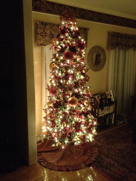 Tree #1 ready for the season. (Living room)