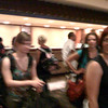 A line of Rollergirls (a convention?) = long wait