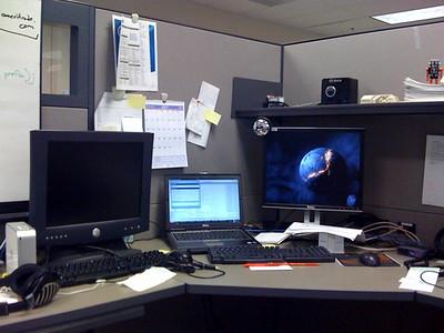 Office desk taken by iphone