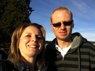 Patrick & I at Hayden Lake. Feb 2011