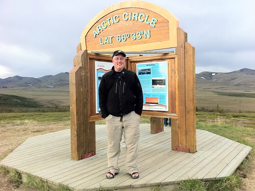 Gary at the Arctic Circle