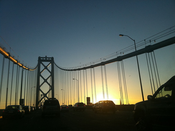 Bay Bridge going into SF