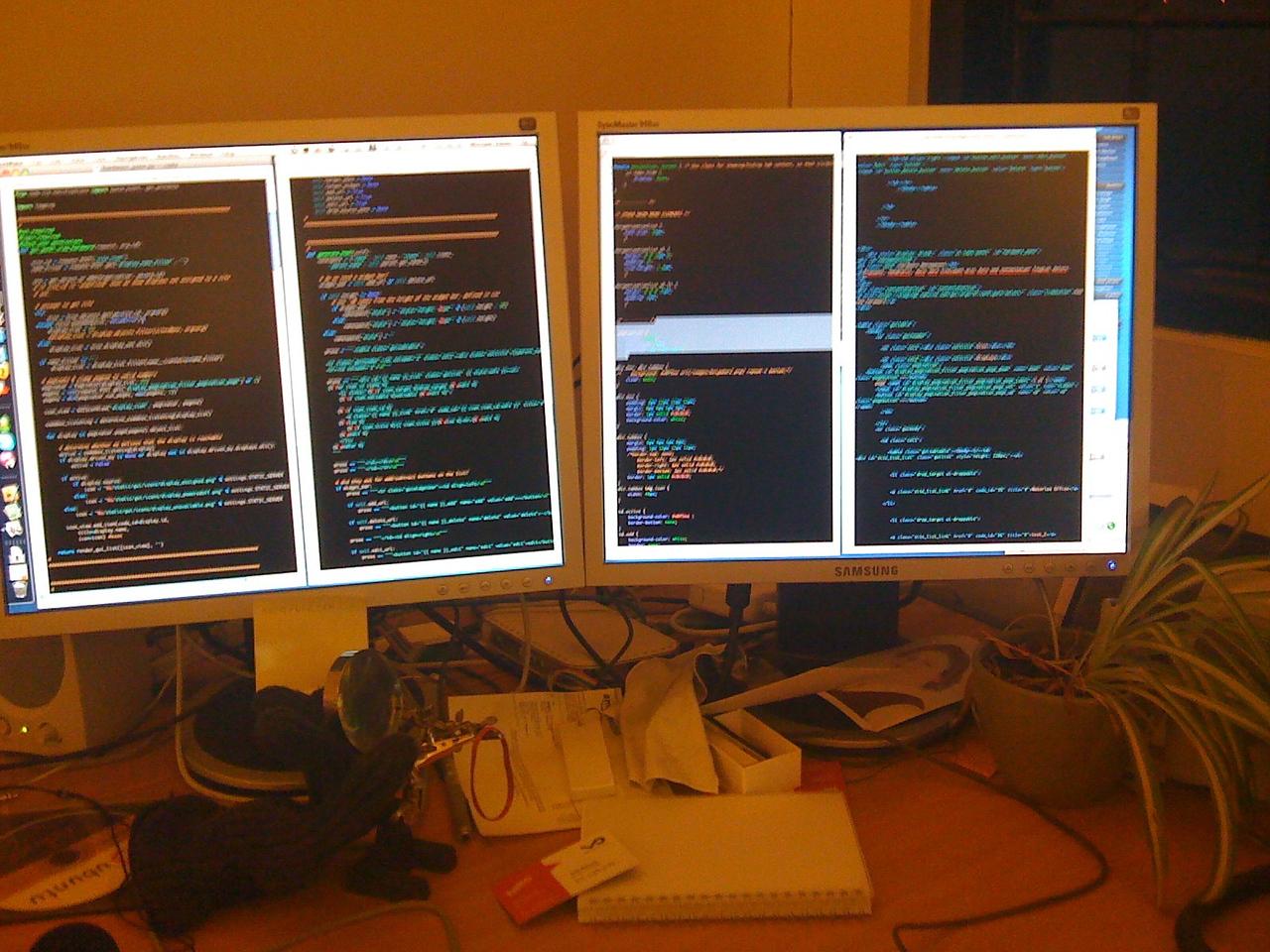 A sea of code