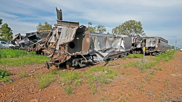 Queensland Rail (QR) move an amazing amount of coal per year in huge, very long trains with very little drama. This very isolated incident happened close the the cotton gin area (no danger to them) at Yamala which is very close to the Tropic of Capricorn in Central Queensland, Australia. QR have some amazing repair crews who respond day or night to get freight moving again, always.